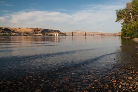The Columbia River between Washington and Oregon Stock Photo