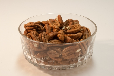 A bowl of pecans Stock Photo