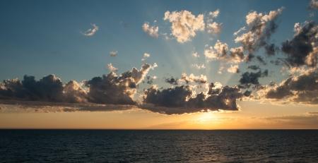A beautiful sunset over Lake Michigan