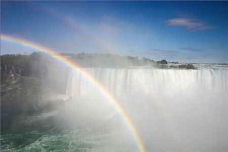 A double rainbow at the Niagara Falls
