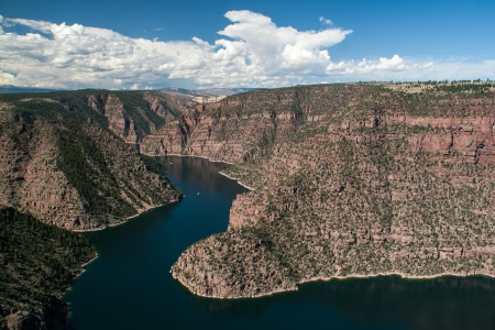 A view of the Flaming Gorge in northeastern Utah Stock Photo