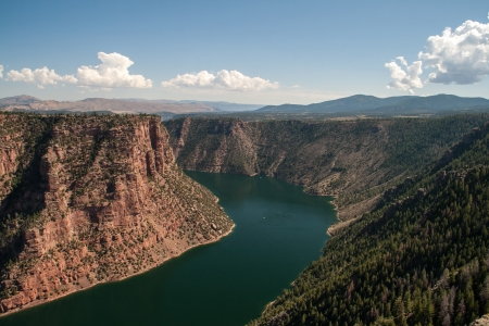A view of the Flaming Gorge in northeastern Utah Stock Photo - 24536528