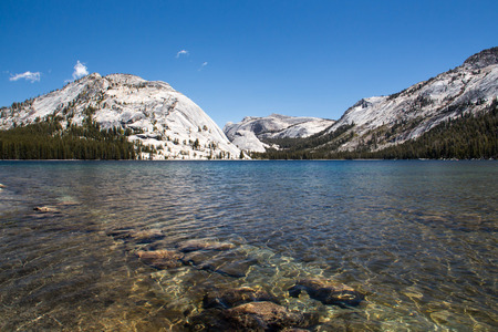 A view of Tioga Lake in Yosemite NationalPark