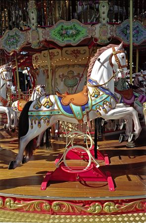 Wooden Horse in carousel in San Francisco