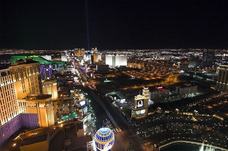 Las Vegas Strip at night wit lights and traffic