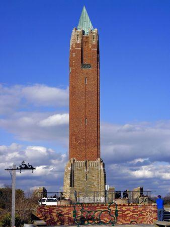 jones: Tower at Traffic Circle at Jones Beach