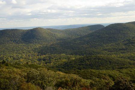 overlook: Overlook from top of peak at Bear Mountain Stock Photo