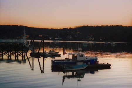 night time: Night time at Cold Spring Harbor docks, NY