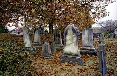 dreary: The Old Cemetary at Sleepy Hollow, New York