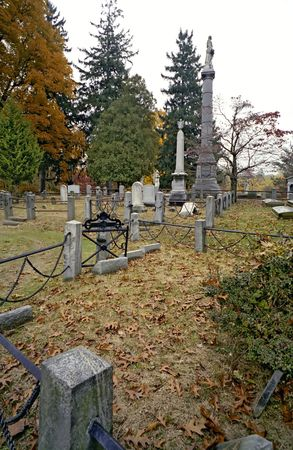 The Cemetary at Sleepy Hollow, New York 免版税图像