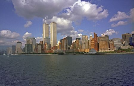 The World Trade Center seen from aboard ship
