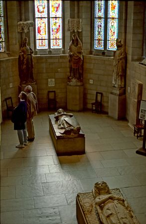 templars: The Knights Tomb at the Cloisters Museum Stock Photo