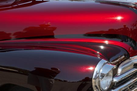 A Red and Maroon Custom Car at the Sayville Fair photo