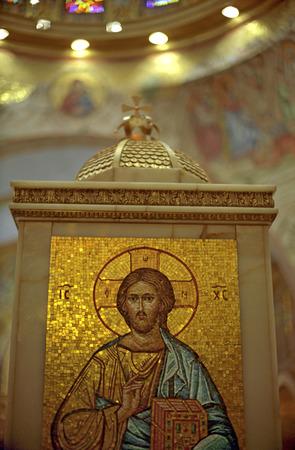 dais: Golden Dais in Orthodox Church in Long Island