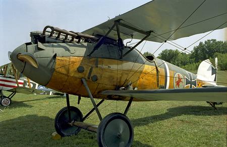 ラインベック、ニューヨークで第一次世界大戦のドイツのアルバトロス戦闘機 写真素材
