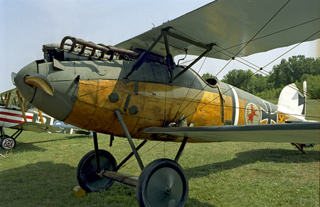 battle plane: German Albatross fighter plane from WWI at Rhinebeck, NY