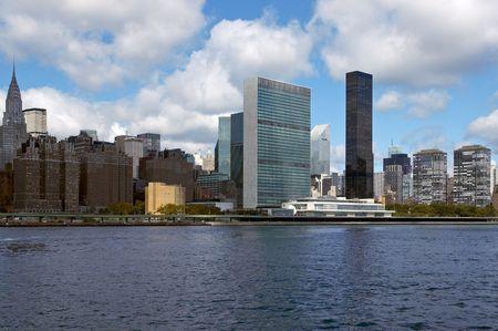 nazioni unite: Le Nazioni Unite Building a Manhattan, come visto da Est Fiume