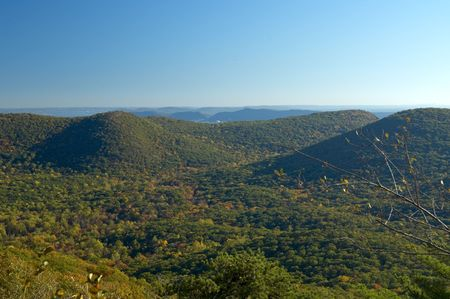 The Catskill Mountains as seen from Bear Mountain