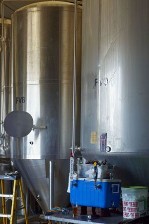 vats: Process Vats In A Long Island Micro Brewery 0609 Stock Photo
