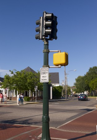 Traffic Signal in Cape May, New Jersey photo