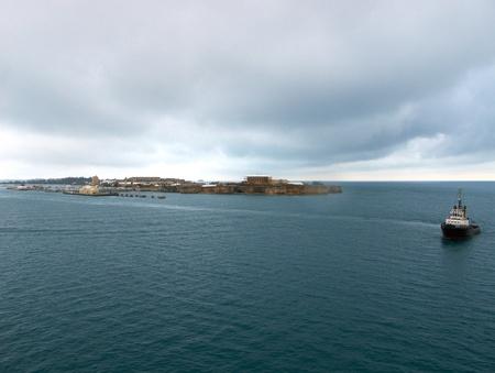 dockyard: Entrance to Kings Wharf Royal Navy Dockyard Bermuda 0611