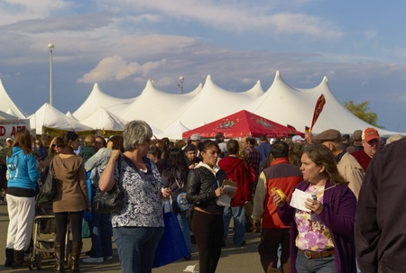 Large crowd at the Oyster Festival in Oyster Bay, NY 101511