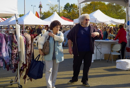 Couple at Oyster Festival in Oyster Bay, NY 101511