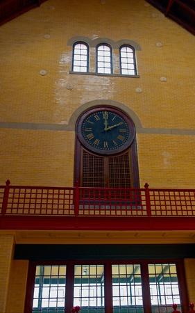 Clock Inside the Hoboken Railroad Station, New Jersey Stock Photo - 13226048