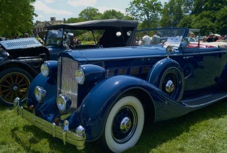 A Restored Antique Car at Show
