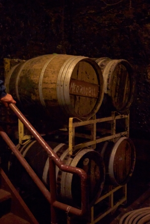 casks: Old Wine Casks in New York Winery