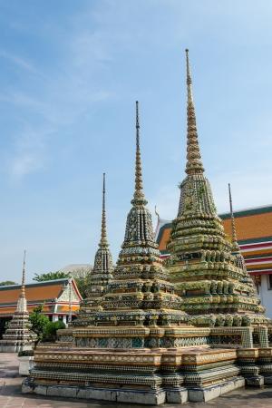 Thai style pagodas