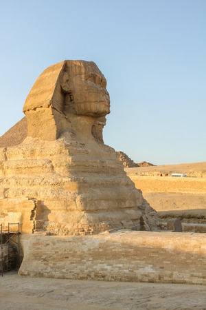 sphinx: sphinx vertically with blue sky