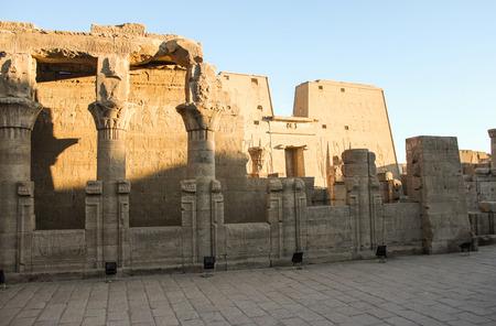 portal: The entrance portal to the temple of Edfu