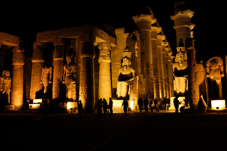thebes: Egyptian sculpture Luxor temple Thebes
