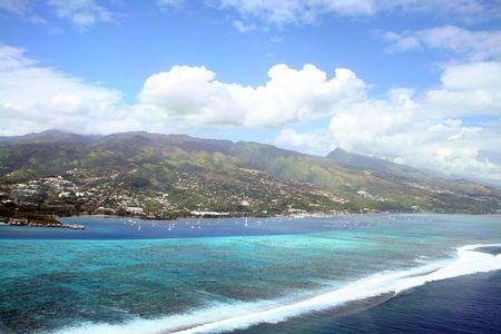 Tahiti lagoon and coral reef, Frecnh Polynesia photo