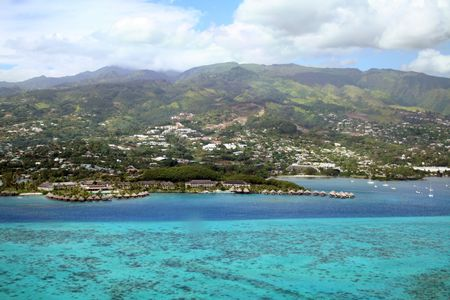 Resort on the lagoon, Tahiti Island photo