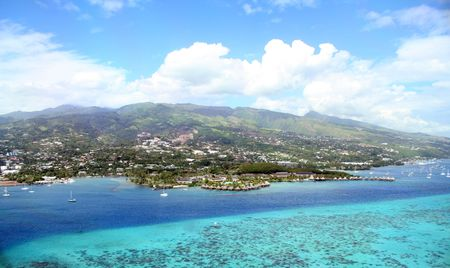 south pacific resort on the lagoon, Tahiti photo