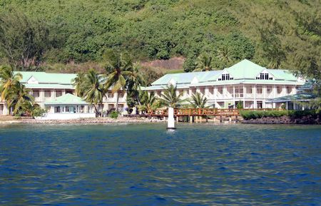 swimm: Resort on Moorea island, tahiti, French Polynesia
