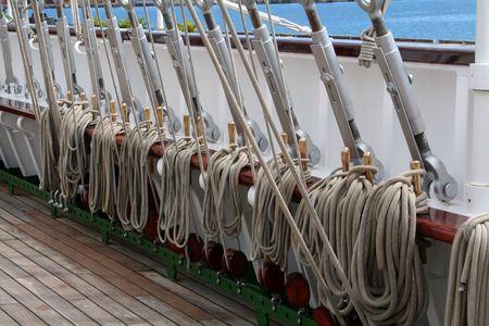 old sailboat rig and tacks