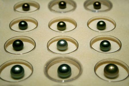 Black pearls display photo