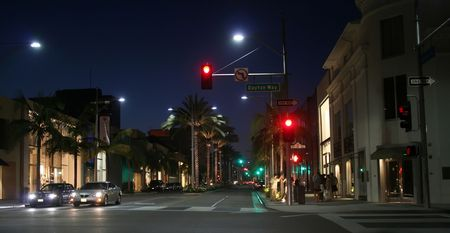 rodeo drive at night