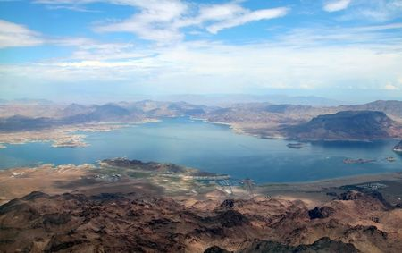 mead: lake mead nevada, aerial view
