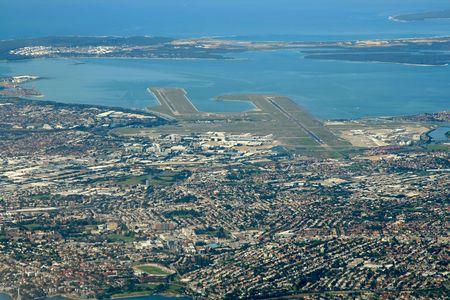 Sydney Flughafen, aeial Blick Standard-Bild - 560723