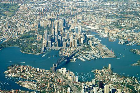sydney city center aerial view Stock Photo - 560724