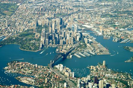 sydney city center aerial view Standard-Bild
