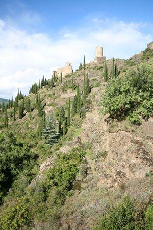 two castles on a ridge photo