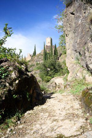 hidden castle on a hill photo