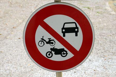Panneau de route, aucun véhicule à moteur Banque d'images - 563438