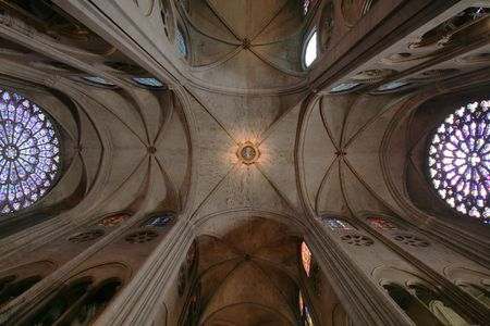 Notre dame cathedral ceiling Stock Photo - 562893