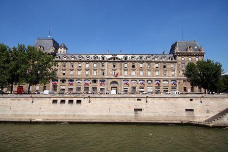quartier g�n�ral: Quai d'orsay, la police headquarter  Banque d'images